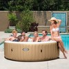 Intex PureSpa 4 Person Inflatable Bubble Jet Spa Hot Tub Set w/ Tray & Headrest - image 3 of 4