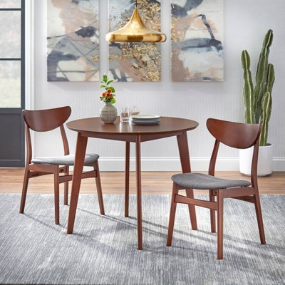 3pc Tania Dining Set Drak Gray - Buylateral