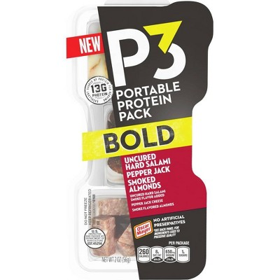 P3 Bold Salami, Almonds and Pepper Jack Protein Pack - 2oz