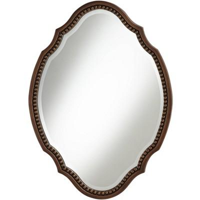 "Noble Park Arabela Bronze Beaded 25 3/4"" x 35 1/2"" Oval Cut Mirror"