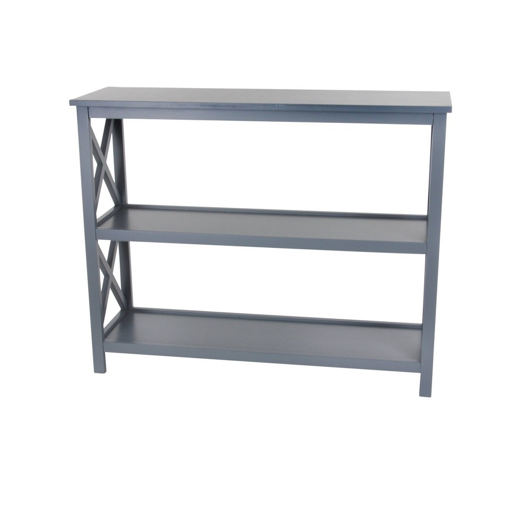 32 34 Contemporary 3 Tier Low Wooden Shelf Gray Olivia 38 May