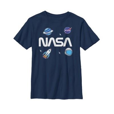 Boy's NASA Logo Space Emoji T-Shirt