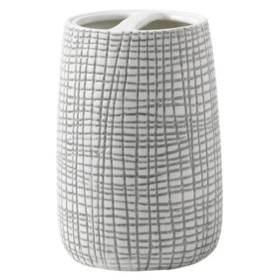 Cestino Toothbrush Holder Gray/White - Cassadecor