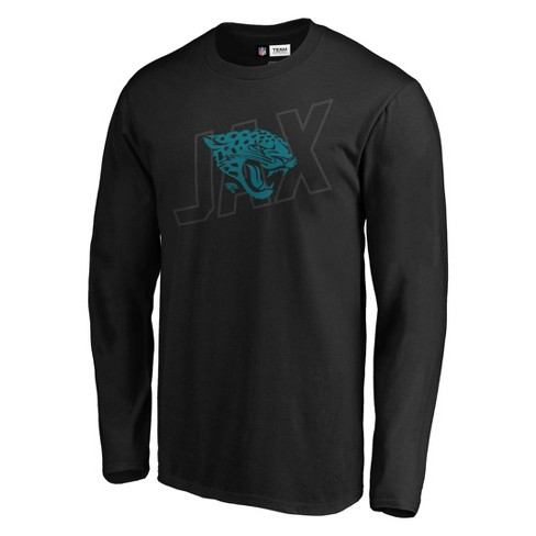 NFL Jacksonville Jaguars Men's Tridcode Metallic Logo Long Sleeve T-Shirt - Black - image 1 of 3