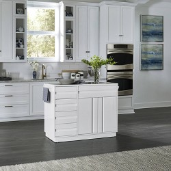 Linear Kitchen Island White - Home Styles