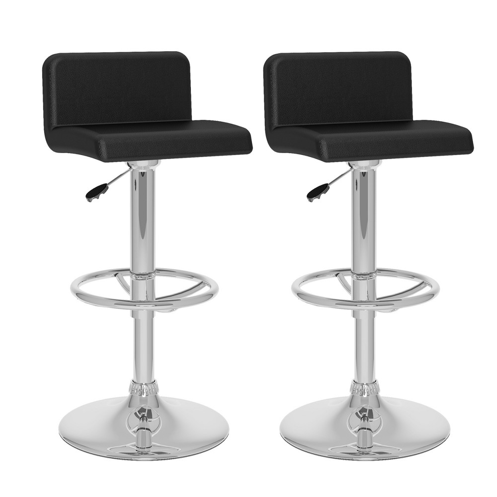 Set of 2 Counter And Bar Stools Black - CorLiving