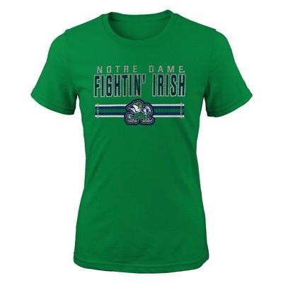 NCAA Notre Dame Fighting Irish Girls' Short Sleeve Crew Neck T-Shirt
