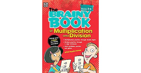 Brainy Book of Multiplication and Division : Grades 3-4 (Paperback) - image 1 of 1