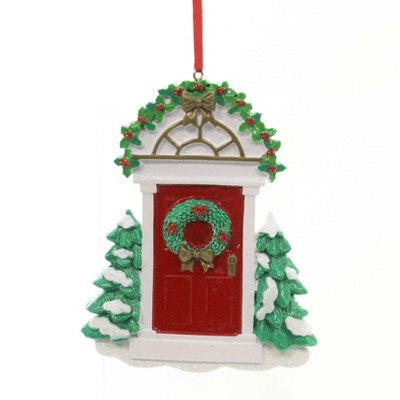 "Holiday Ornaments 4.5"" Red Door Christmas House  -  Tree Ornaments"