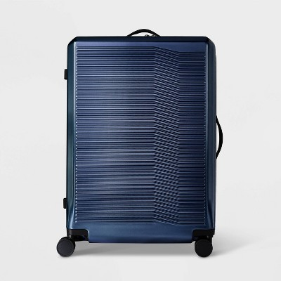 "Hardside 29"" Checked Suitcase Denim Blue - Open Story™"