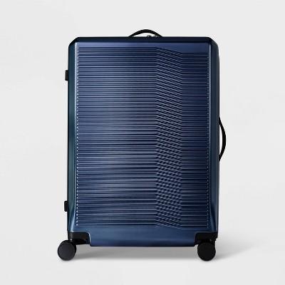 "Hardside 29"" Checked Spinner Suitcase Denim Blue - Open Story™"