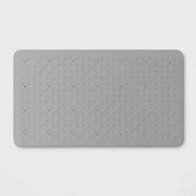 28 x16  Rubber Bath Mat Gray - Made By Design™