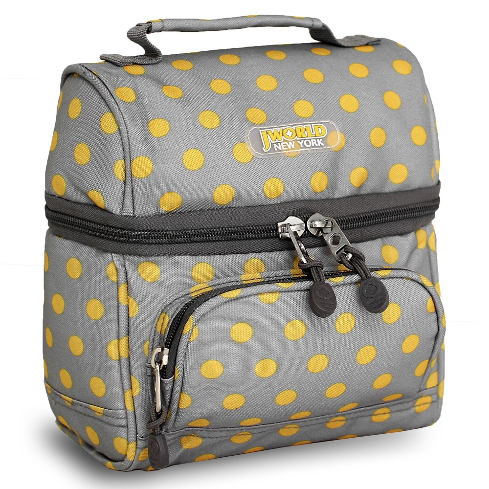 J World Corey Lunch Bag With Front Pocket Candy Buttons