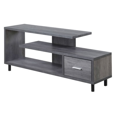 """60"""" Seal II TV Stand Charcoal Gray - Breighton Home"""