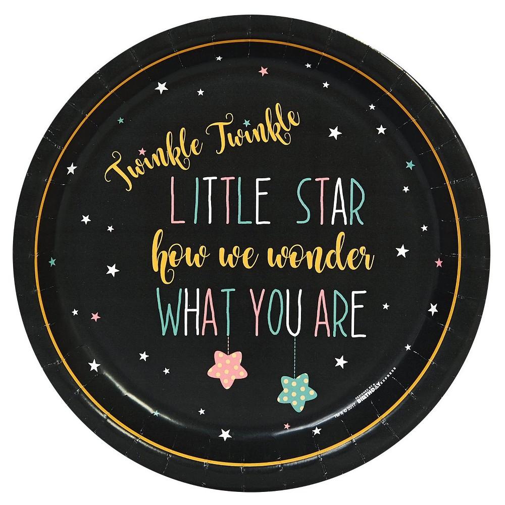 48ct Twinkle Twinkle How We Wonder Dinner Plate, Multicolored