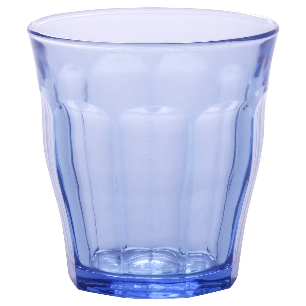 Image of Duralex 11oz 6pk Glass Picardie Tumblers Blue