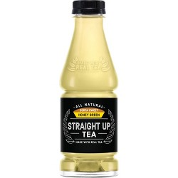 Straight Up Tea, Sorta Sweet Honey Green Tea - 18.5 fl oz Glass Bottle