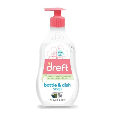 Dreft Bottle & Dish Soap Cleaner - 18 fl oz