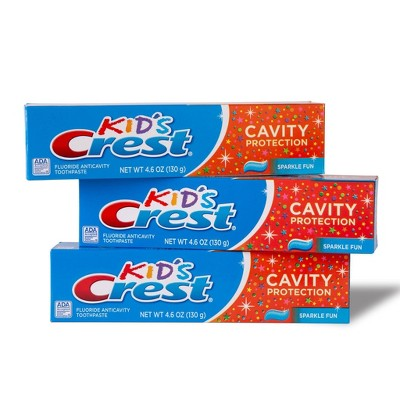 Crest Kid's Cavity Protection Sparkle Fun Flavor Toothpaste - Pack of 3 - 4.6oz