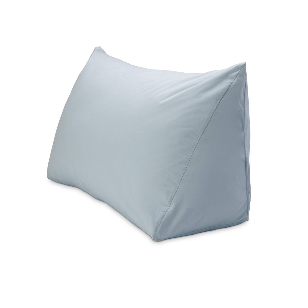 "Image of ""18"""" x 36"""" 330 Thread Count Reading Wedge Cover Fog Blue - DownLite"""
