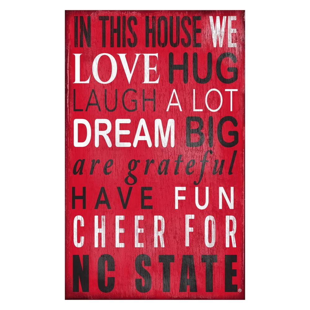 NC State Wolfpack In This House Sign