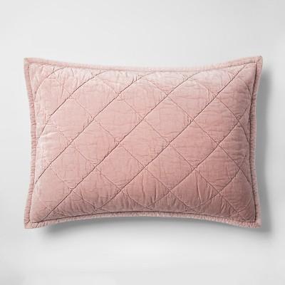 Pink Velvet Sham (King)- Fieldcrest®