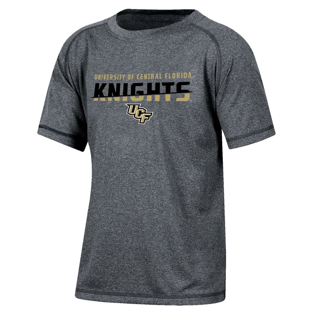 Ucf Knights Boys Short Sleeve Crew Neck Raglan Performance T-Shirt - Gray Heather S, Multicolored