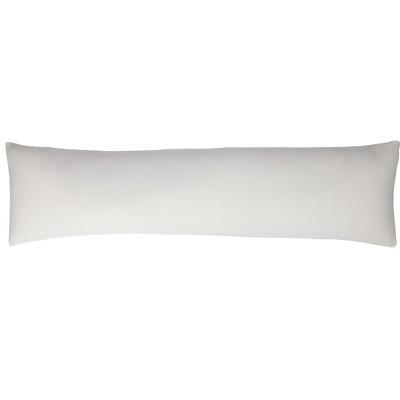 Mind Reader Shredded Memory Foam Body Pillow, White