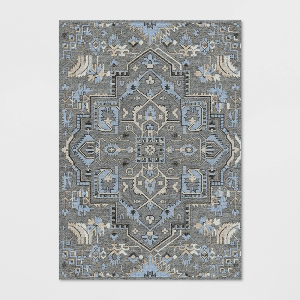 7'X10' Hyssop Jacquard Tufted Area Rug Stone Gray - Opalhouse was $349.99 now $174.99 (50.0% off)