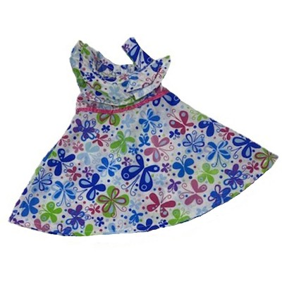 Doll Clothes Superstore Butterfly Print Dress Fits 18 Inch Girl Like American Girl Our Generation My Life Dolls