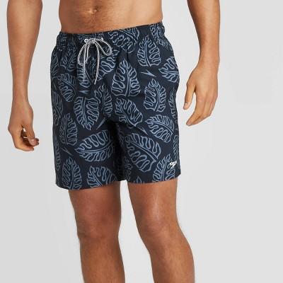 "Speedo Men's 8"" Floral Print Volley Swim Shorts - Navy"