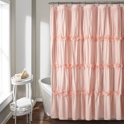Darla Shower Curtain Blush Pink - Lush Décor