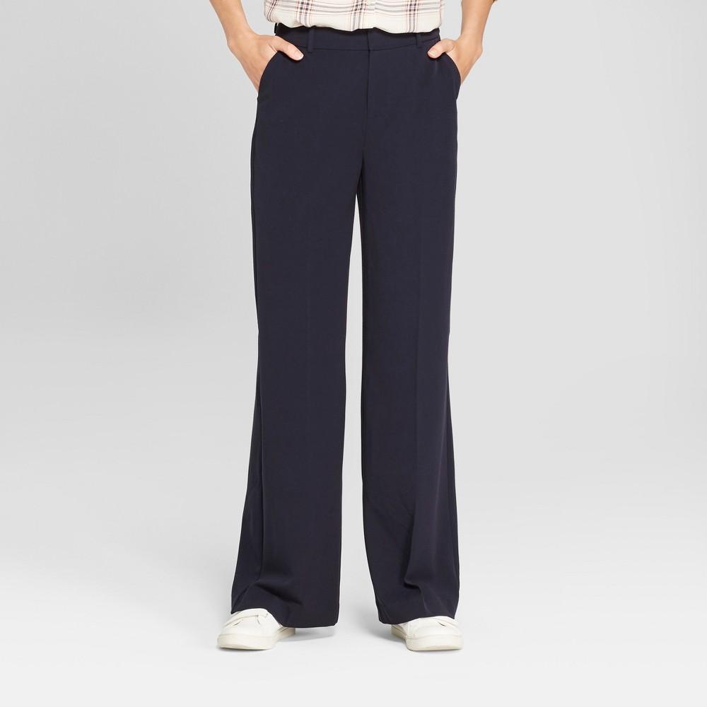 Women's Wide Leg Bi-Stretch Twill Pants - A New Day Blue 14, Federal Blue