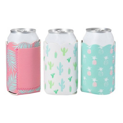 Slant Collections 3pk Cactus Toss Can Cooler Set