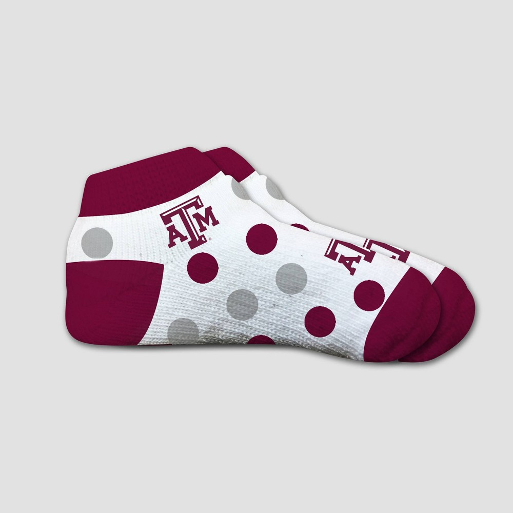 NCAA Texas A&m Aggies Polka Dot Infant Socks 2T-4T, Infant Unisex