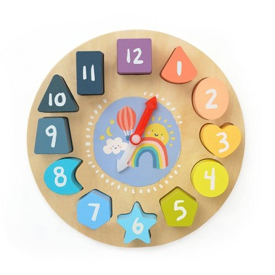 The Manhattan Toy Company Early Learning Wooden Puzzle Clock
