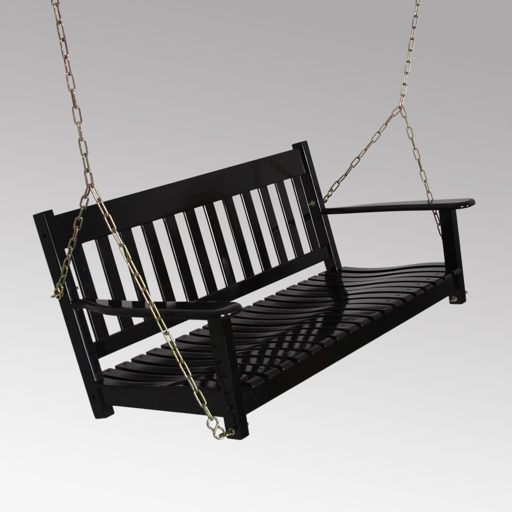Image of Alston Porch Swing - Black - Cambridge Casual