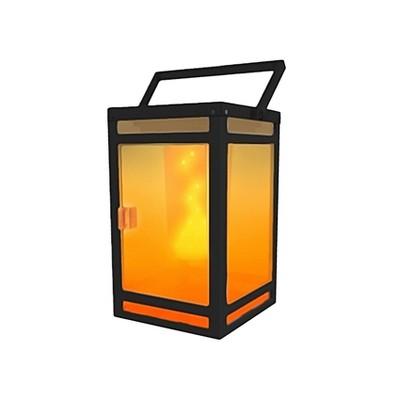 """8"""" LED Solar Portable Outdoor Lantern with Flame - Techko Kobot"""