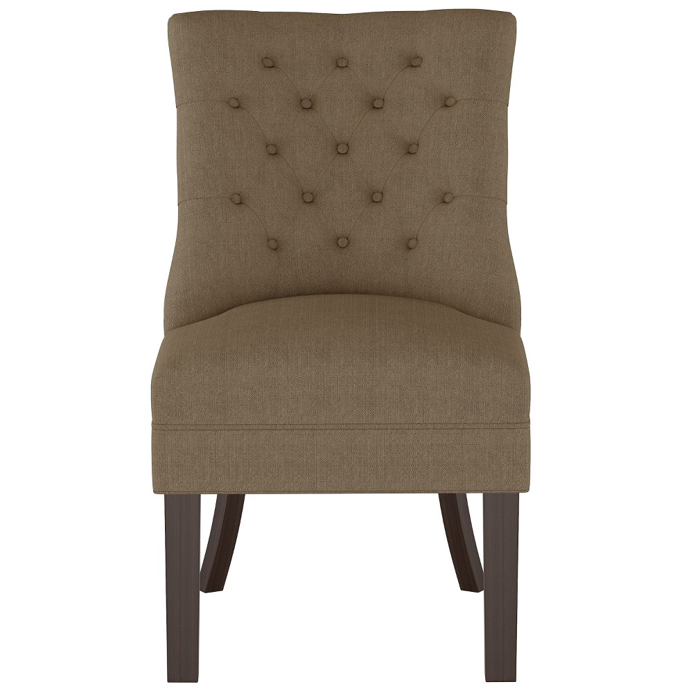Winslow Tufted Back Chair Taupe (Brown) - Threshold