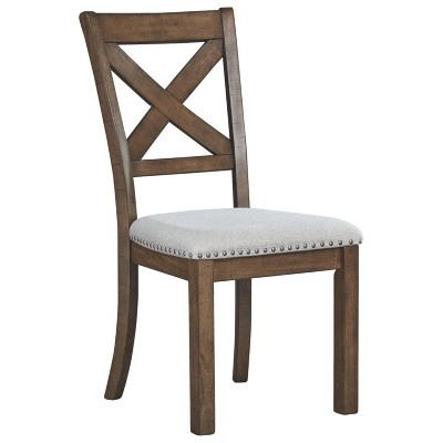 Set of 2 Moriville Dining Upholstered Side Chair Grayish Brown - Signature Design by Ashley
