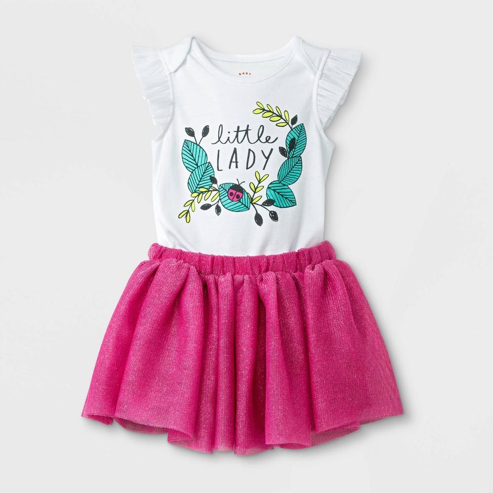 Baby Girls' 2pc Tulle Flutter Sleeve