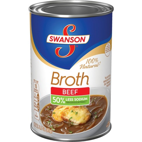 Swanson® Natural Goodness™ 100% Natural Low Sodium Beef Broth 14.5 oz - image 1 of 5