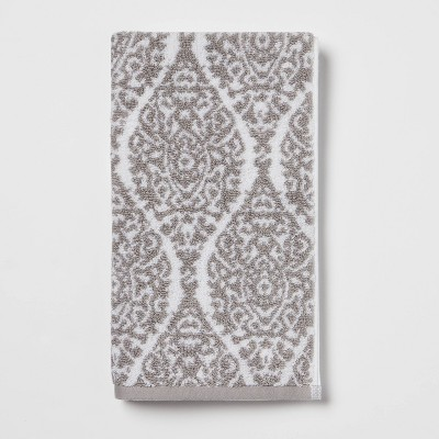 Performance Hand Towel Gray Ogee - Threshold™