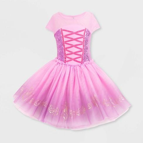 Girls' Disney Rapunzel Fancy Dress - Pink - Disney Store - image 1 of 4