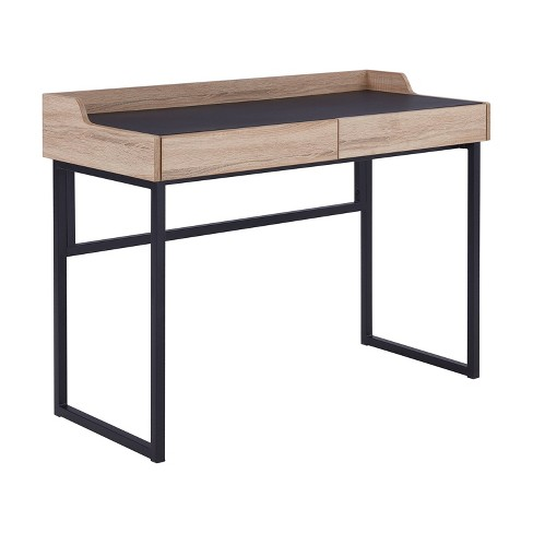Mildenhall Writing Desk with Storage Drawers Brown - Aiden Lane - image 1 of 4