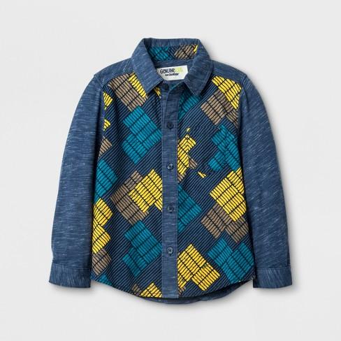 c9c4e6c39 Toddler Boys' Genuine Kids® from OshKosh Long Sleeve Button-Down Long Sleeve  T-Shirt - Navy