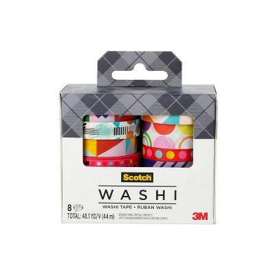 Scotch 8pk Expressions Washi Tape Geometric Madness