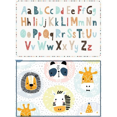 Alphabet and Zoo Animals Placemat Set of 2 - A & A Story