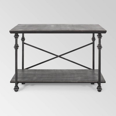Moser Modern Industrial Coffee Table Gray/Pewter - Christopher Knight Home