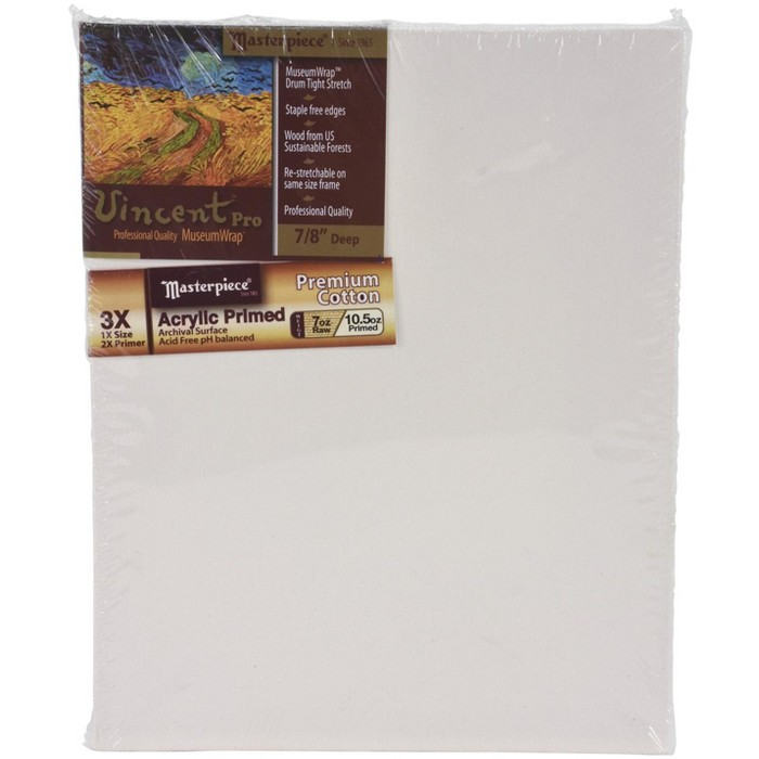 Masterpiece Vincent MasterWrap Pro MuseumWrap Wood Drum Tight Stretched Canvas, 8 X 10 in - image 1 of 5